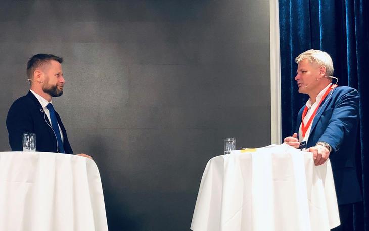 Bent Høie og Jan Gunnar Skoftedalen Foto: Torhild Kielland