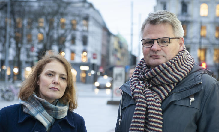Pernille Husebye i Actis og Jan Gunner Skoftedalen, Fagrådet. Foto: Terje Lien