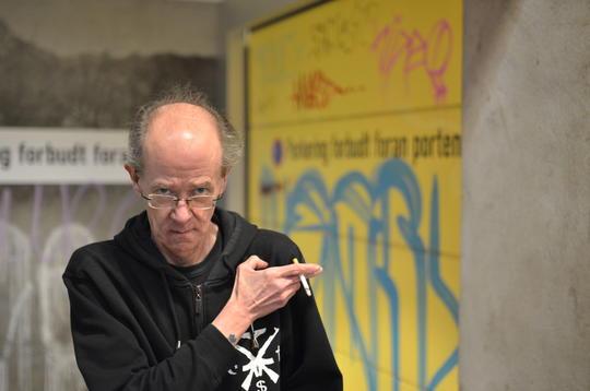 Redaktør Alf Krogseth i gatemagasinet Virkelig i Tromsø